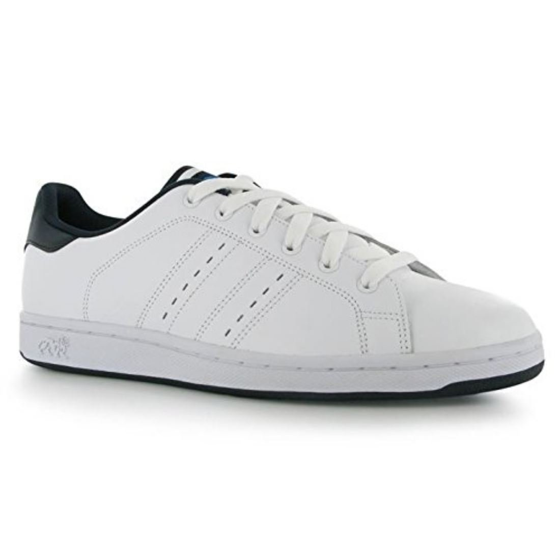 Lonsdale Mens Leyton Leather Trainers Full Lace Up Sport Casual Shoes UK 9
