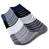 No Show Socks Men Short Sock Low Cut Socks For Men Ankle Socks (8 Pairs) Cotton Casual Socks Flat Boat Line, Size 6-10