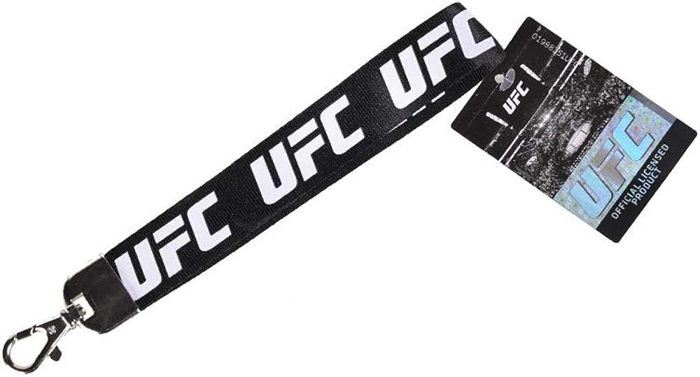 UFC Lanyard Two Tone Logo Black//Charcoal