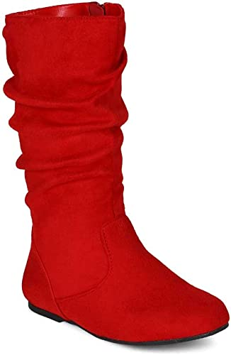 Suede Slouchy Knee High Flat Boot