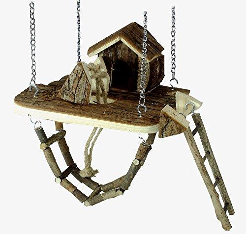 Nagerspielplatz , für Hamster , Mäuse , Hängebrücke , Haus , Leiter