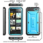 SUPCASE Amazon Fire Phone Case – Unicorn Beetle PRO Series Full-body Hybrid Protective Case with Built-in Screen Protector (Blue/Black), Dual Layer Design/Impact Resistant Bumper, Compatible with Fire Phone 2014 Release