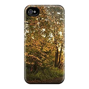 linJUN FENGPremium Tpu Gated Path Through The Forest Cover Skin For Iphone 4/4s