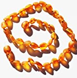 "SAFETY KNOTTED*Amber Heals Baltic Amber Teething Necklace-Raw Honey- with ""Amber Heals"" Jewelry Pouch, Baby & Kids Zone"