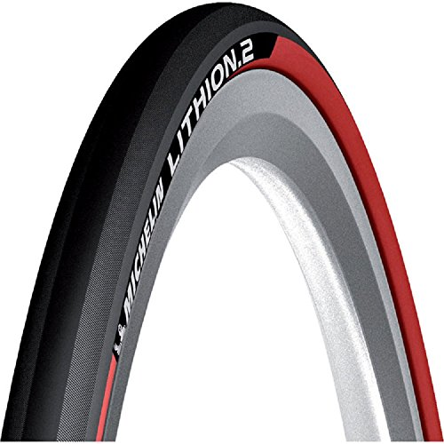 Michelin Lithion 2 Folding Road Tyre- OE Packing (Red, 700x23c)