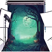 Duluda Halloween Night Pumpkin Moon 6x9FT Seamless Vinyl Photography Backdrop Customized Photo Background Studio Prop HW02B