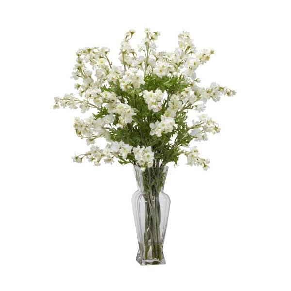 AWM Real Looking Dancing Daisy Silk Flower Arrangement White Colors – Silk Arrangement