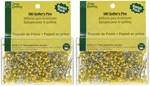(Dritz Size 1-3/4-Inch Quilting Quilter's Pins, 500-Pack (2 Pack))