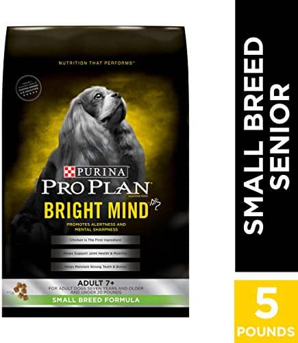 Purina Pro Plan Small Breed Senior Dry Dog Food, BRIGHT MIND Small Breed Formula - 5 lb. Bag