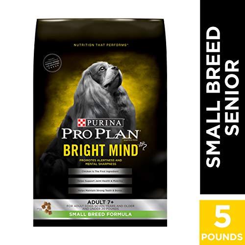 Purina Pro Plan Small Breed Senior Dry Dog Food, BRIGHT MIND Small Breed Formula - 5 lb. Bag