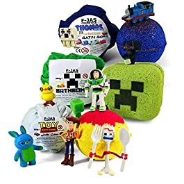 Bath Bomb with Surprise Toy TRIPLE PACK (Mine Creeper, Toy Story, Thomas)