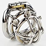 Teriya Men Chastity Belt with Removable Sharp Screw Stainless Steel Qianchichi NEW STYLE Male Chastity Device Cock Cages(1pc)