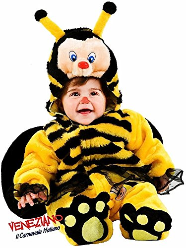 Italian Made Deluxe Baby Girls Boys Plush Bumble Bee Halloween Mini Beast Fancy Dress Costume Outfit 3-12 Months (3-6 Months) ()