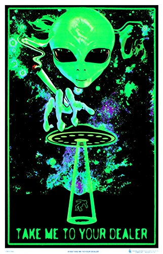 Take Me To Your Dealer College Blacklight Poster - cannabis wall decorations