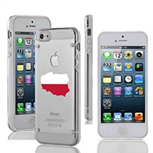 Apple iPhone 6 6s Ultra Thin Transparent Clear Hard TPU Case Cover Poland Polish Flag (White)