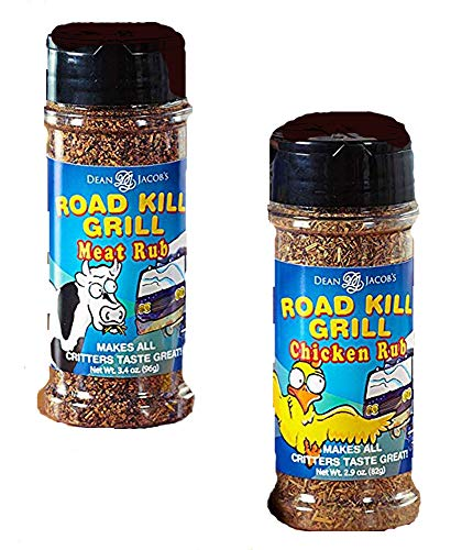 The Lakeside Collection Set of 2 Road Kill Grill Rubs