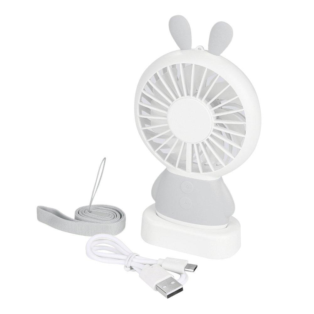 Mini Portable Cooling Fan - Desktop Mount Fan with Color Changing Light Fan