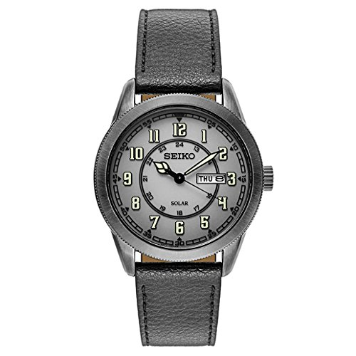 Seiko-Mens-RECRAFT-Quartz-Stainless-Steel-and-Leather-Casual-Watch-ColorBlack-Model-SNE447
