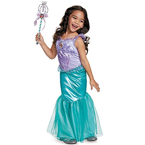 [Disguise Ariel Deluxe Disney Princess The Little Mermaid Costume, Medium/7-8] (Little Zebra Girls Costumes)