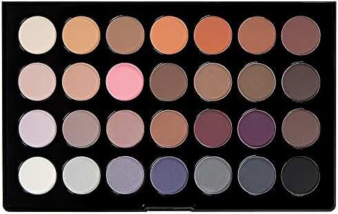 BH Cosmetics Modern Neutrals 28 Color Matte Eyeshadow Palette, 0.54 Pound