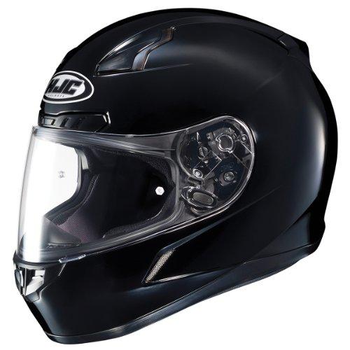 HJC CL-17 Solid Black Full Face Motorcycle Helmet - Medium