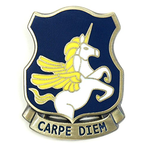 Dorrarium-Carpe-Diem-Unicorn-Lapel-Pin-Enamel-Vintage-Surplus-Badge