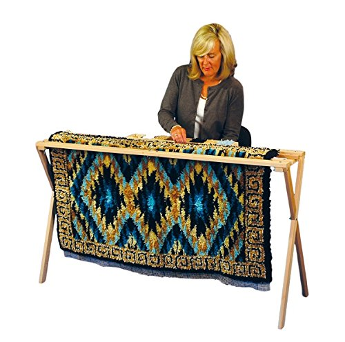 Edmunds Floor Standing Rug Hooking Quilt Frame, 17 by 30 by 45-Inch