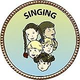 Singing Award, 1 inch dia Gold Pin ''Music Arts Collection'' by Keepsake Awards