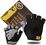 IRON MUSCLE Gloves Weight lifting,Bodybuilding,Gym,Fitness,Cycling,Crossfit,Canoeing,Car driving,Hunting,Training Men Women Unisex(L) included Training Guide personalized Storage Bag