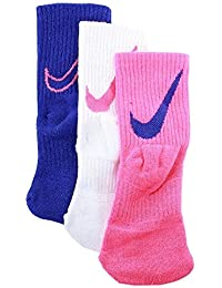 Boys Dri-FIT Cushioned Crew Athletic Socks 3 Pack