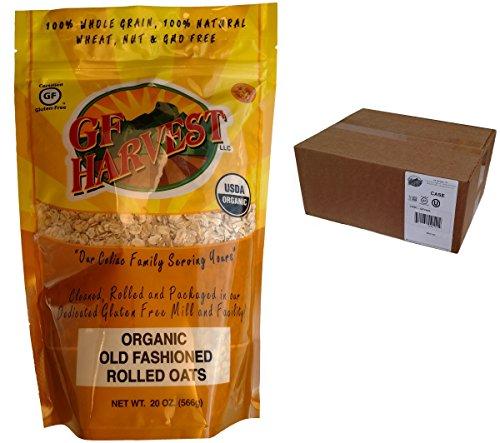 GF Harvest Gluten Free Certified Organic Rolled Oats, Non GMO, 20 oz Bag, Non-GMO, Certified Organic, 6 Count by GF Harvest (Image #2)