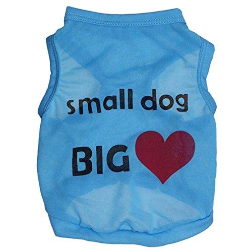 [Dreaman Cute Small Pet Dog Apparel Clothes Shirts (XS, Azul)] (Ohio State Dog Costume)