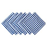 DII Blue Farm Check Oversized Basic Everyday Napkin (Set of 6), 20'' x 20''