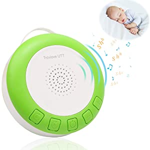 Shusher Baby Sleep for Portable& Travel Baby White Noise Machine for Sleeping with Volume Control Shusher Sound Machine USB Rechargeable(Green)