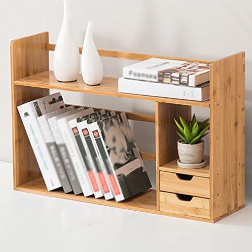 Shelves Double Pump Desktop Bookshelf Bamboo Children's Small Bookcase Study Room Desk Storage Display - Ladder Desk Shelves Double