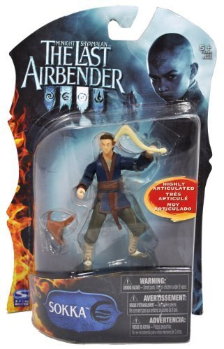 Paramount Movie Series The Last Airbender 4 Inch Tall Highly Articulated Action Figure - SOKKA with Boomerang and Sack by The Last Airbender