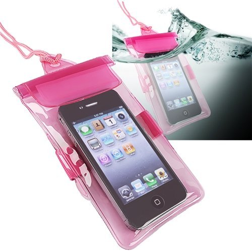 Topratesell Waterproof Bag Case for Cell Phone / PDA, (Pink)