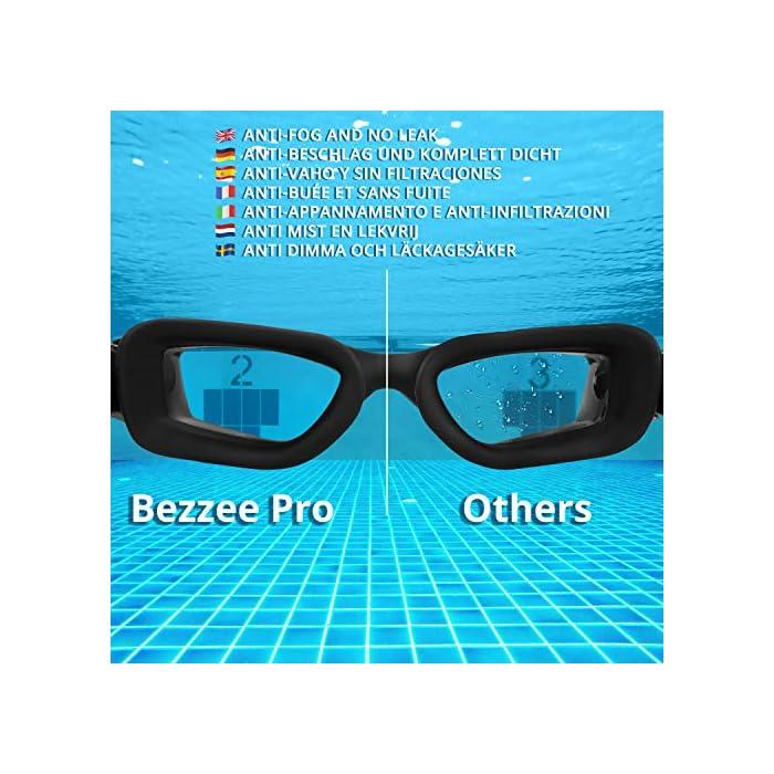51vQEY AK2L GAFAS NATACION HERMÉTICAS: Estas gafas de silicona están hechas de silicona suave de doble capa para gran comodidad y evitar que goteen. Con el fuerte sello de goma gruesa, protegerán sus ojos del cloro y otros químicos presentes en las piscinas. Sus ojos también estarán protegidos contra el polvo, suciedad y bacterias, esto evitará la irritación y los ojos rojos. Estas gafas de nadar se pueden usar para bucear, triatlones y nado sincronizado. LENTES CON PROTECCIÓN UV: Estas coloridas gafas para natación tienen coloridas lentes de policarbonato. Son resistentes, no se romperán y tienen protección UV. Con esta protección evitará cualquier daño por los rayos del sol y también reducen la cantidad de luz que entra, esto ayuda a minimizar el resplandor, para mejorar la experiencia cuando nade en exteriores o bajo las brillantes luces de la piscina. CORREA AJUSTABLE DE SILICONA: Las gafas para bucear tienen una correa que se puede ajustar fácilmente para hacerla más grande o pequeña y ajustarse a la mayoría de los tamaños de cabezas. Estas gafas son aptas para hombres y mujeres adultos, así como también adolescentes. El botón de liberación rápida en la parte trasera ayuda a liberarlas y retirarlas fácilmente. Estas gafas de piscina son perfectas para profesionales, así como nadadores recreativos.