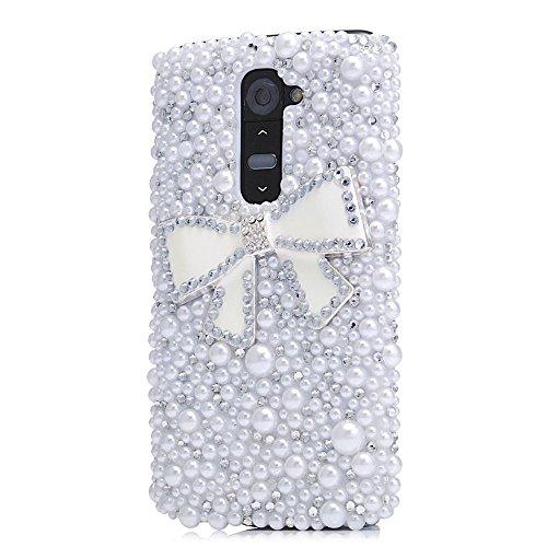 Spritech(TM) LG G Stylo Hard Case,Bling Crystal 3D handmade Rhinestone Design Clear Phone Cover for LG G Stylo
