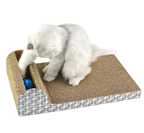 YujueShop Cat scratching post with ball placed in a side groove of the shelf (FBA 46x25x11cm/18.1x9.8x4.3in) by YujueShop