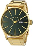 Nixon A356-1919 Mens Sentry SS Gold Green Sunray Watch