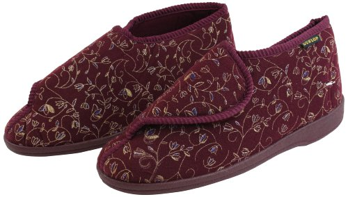 Ability Superstore Dunlop Betsy Chaussons Bordeaux Taille 5