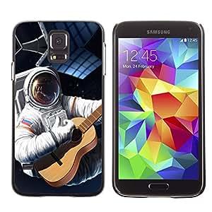Paccase / SLIM PC / Aliminium Casa Carcasa Funda Case Cover para - Popular Astronaut Russia Flag Guitar Space Suit Travel - Samsung Galaxy S5 SM-G900