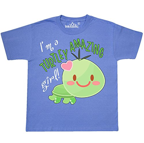 inktastic I'm a Turtle-ly Youth T-Shirt Youth Small (6-8) Columbia Blue 2f56b