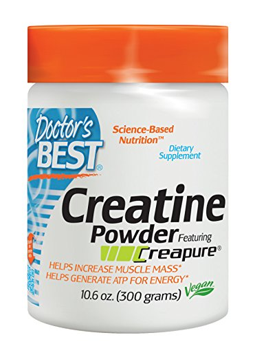 Doctor's Best Creatine Powder Featuring Creapure, 10.6 Ounce