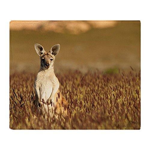 CafePress Cute Kangaroo in Australian Outback Soft Fleece Throw Blanket, 50