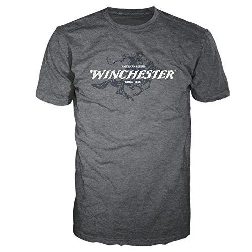 Mens Short Sleeve Graphic T-shirt (Winchester Official Men's Legend Rider Graphic Short Sleeve T-Shirt (5XL, Dark Heather))
