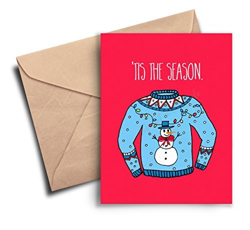Stocking Season (Christmas Card Funny, Seasons Greetings Card, Funny Holiday Card Dad, Best Friend, Stocking Stuffer, Tis the Season, Ugly Christmas Sweater)