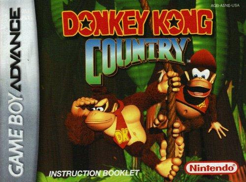 Amazon.com : Donkey Kong Country GBA Instruction Booklet ...