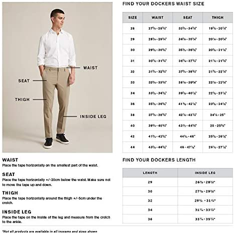 dockers Homme Pantalon Classic Fit Workday Kaki Smart 360 Flex D3 Pantalon décontracté - Noir - 44W x 30L